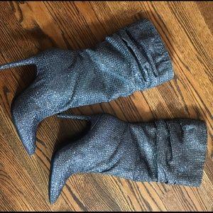 Jessica Simpson Layzer Rhinestone Slouch Boots 8